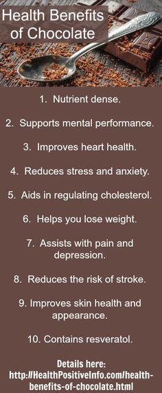 Health Benefits of Chocolate  http://healthpositiveinfo.com/health-benefits-of-chocolate.html