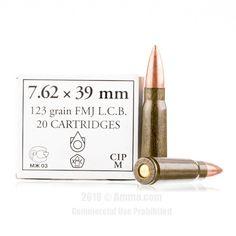 Wolf 7.62x39 Ammo - 1000 Rounds of 123 Grain FMJ Ammunition #762x39 #762x39Ammo #Wolf #WolfAmmo #Wolf762x39 #FMJAmmo