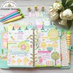 Doodlebug Design Inc Blog: Easter Express Collection: Planner love with Jomelle Gomez