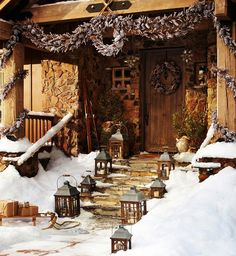 Rustic Home - 50 Outdoor Christmas Decorations   DesignRulz.com