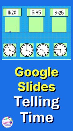 This Telling Time Google Classroom distance learning resource helps students master telling time to the hour, Quarter Past and Quarter to the Hour, half hour and 5 minute increments. Drag drop the movable pieces. #DistanceLearningTpT #DistanceLearning #GoogleClassroomMath #GoogleClassroom #TellingTime #MathActivities #googleclassroomelementary #TeacherFeatures #TpT #technologyintheclassroomelementary #1stGrade #2ndGrade