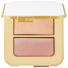 Shop TOM FORD's Sheer Highlighting Duo at Sephora. It features a pair of shimmering rose and yellow gold hues for the cheeks, eyes, and face.