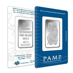 1/2 oz PAMP Suisse Fortuna Silver Bar (In Assay) | Bullion Exchanges