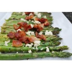 Roasted Asparagus with Bacon, Feta and Blood Orange Olive Oil Recipe