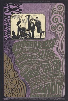 Butterfield Blues Band, Charles Lloyd Quartet  1/20-22/1967  Artist: Wes Wilson