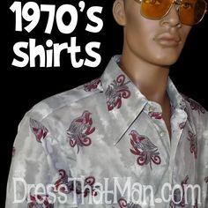 REAL 1970's Disco Shirts for BIG MEN - unworn vintage