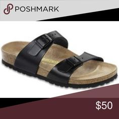 Birkenstock 7 Black patent leather. Excellent condition! Very minimal signs of wear. Worn twice! Birkenstock Shoes Sandals