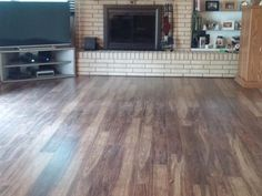Chris in Indiana picked Natural Acacia for the family room!