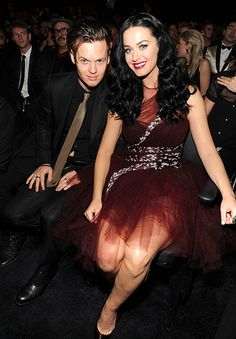 Katy Perry and her brother, David Hudson at the 2014 Grammys