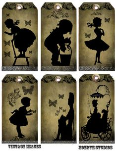 Vintage Victorian Silhouette Tags by Raidersofthelostart on Etsy, $3.50