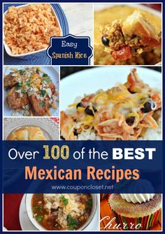 Over 100 of the BEST Mexican Recipes - you really can't go wrong with this awesome roundup of recipes.