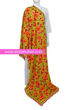 PinkPhulkari California Phulkari Hand Embroidered Phulkari Dupatta. To shop Visit our website www.pinkphulkari.com Images copyrights@PinkPhulkari California All rights reserved. Punjabi Suits, Cover Up, Pajama Pants, California, Asian, Website, Shopping, Collection, Jewelry