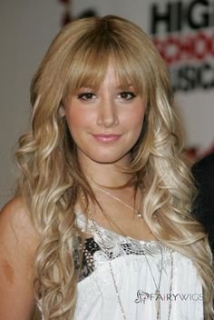 """Ashley Tisdale and Vanessa Hudgens at """"High School Musical Press Conference - GotCeleb New Long Hairstyles, Haircuts For Wavy Hair, Wig Hairstyles, Long Haircuts, Cheap Human Hair Wigs, Long Hair Wigs, Cheap Wigs, Ashley Tisdale, High School Musical"""
