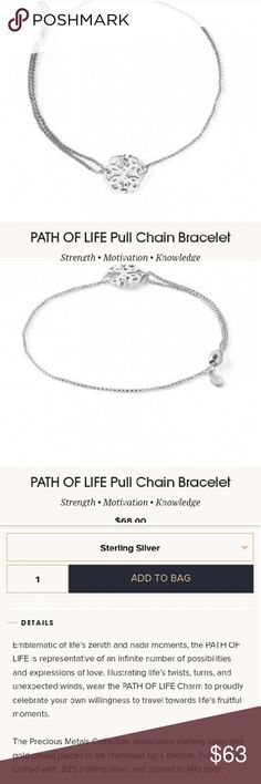 ALEX&ANI PROVIDENCE COLLECTION PULL CHAIN BRACELET Alex and Ani Providence collection pull chain bracelet with the elegant Path of Life symbol is so symbolic and stunning. The pull chain allows the bracelet to be customized however tight or loose you would like the bracelet to be on your wrist. Brand new in box with tags and card. I include a protective Alex and Ani protective bracelet draw string bag. This piece of jewelry is stunning crafted with real sterling silver and 14kt gold this…