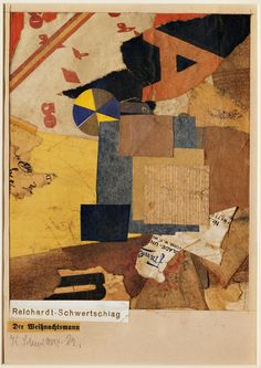 Der Weihnachtsmann (Santa Claus) by Kurt Schwitters Kurt Schwitters, The Artist's Way, That Way, Mixed Media Collage, Collage Art, Art Therapy Activities, Museum Of Modern Art, Muted Colors, Mail Art
