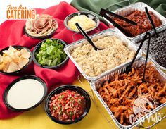 Taco Bar - Moe's Southwest Grille. -Our favorite restaurant, so personally meaningful to us, delicious and fresh-tasting, and cost effective!