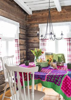 Rustic, sweet, home design. Cottage Living, Cottage Style, Log Wall, Simply Home, Primitive Kitchen, Cottage Interiors, Wooden House, Love Home, Interior And Exterior