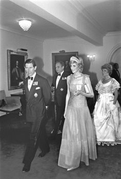 June 20, 1983:  Prince Charles & Princess Diana attending an official dinner at Rideau Hall, Ottawa, Canada. (Day 7)