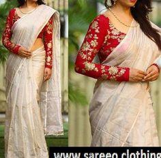 Soft silk designer saree & salwar suits embroidered lehenga choli page 5 sari bhandar Pattu Saree Blouse Designs, Saree Blouse Patterns, Fancy Blouse Designs, Bridal Blouse Designs, Salwar Suit Neck Designs, Mix Match, Sari Design, Saree Trends, Elegant Saree