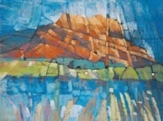 i like the fracturing in this painting 'Roquebrune, Provence' pastel by Kees van de Wetering