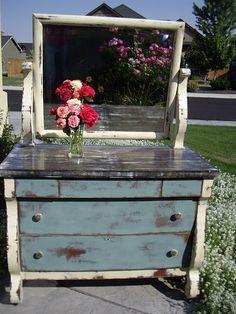 Duck Egg Blue Curvy Dresser