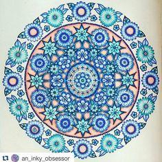 Instagram media desenhoscolorir - Mandala feita com muito capricho by @an_inky_obsessor  #jardimsecreto  #desenhoscolorir  #johannabasford #secretgarden #mandala