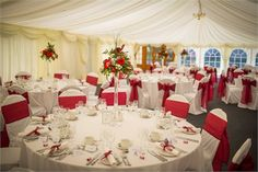 The marquee is available for use between the months of March and October for the Wedding Breakfast