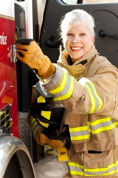 """Andrea Peterson, 68-Year-Old Firefighter: """"When I was a child, my mother and I were trapped in a burning building in Los Angeles. The firemen rescued us & when I said """"I'm gonna be a firemen just like you!"""" they laughed. """"You'll be a good mommy, you'll be a good teacher, maybe you'll be a nurse, but you can never be a fireman."""" I had to wait a lifetime to be the real me."""""""