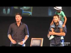 funny supernatural convention moments. Favorite moment when Jensen danced to Michael Buble :)