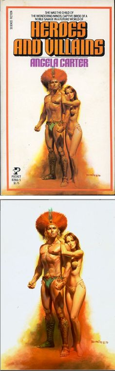 BORIS VALLEJO - Heroes and Villains by Angela Carter - 1979 Pocket Books - cover by isfdb - pin by Alfredo Natas Lazote