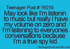 I so do this... except when I actually listen to music I have the volume at full blast so everyone can hear it, so if they couldn't hear it, they'd know I wasn't really listening to music...