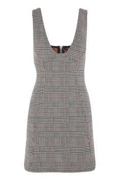 Check A-Line Pinafore Dress - New In Dresses - New In - Topshop