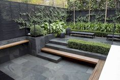 102 Marvelous Modern Front Yard Privacy Fences Ideas - Page 24 of 104 Modern Garden Design, Patio Design, Landscape Design, Landscape Architecture, Architecture Design, Modern Landscaping, Backyard Landscaping, Landscaping Ideas, Outdoor Rooms