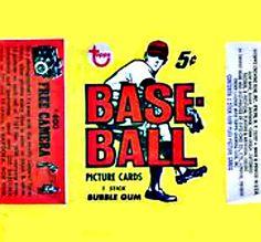 1968 Topps Baseball Cards Wrapper