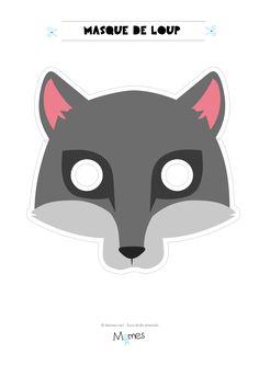 masque de loup à imprimer Wolf Mask, Diy Crafts Hacks, Cosplay Diy, Animal Masks, Infant Activities, Red Riding Hood, Little Red, Halloween Diy, Mardi Gras