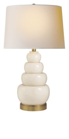 "Table Lamps, Designer 39"" Tall White Porcelain Stacked Lamp, so beautiful,  courtesy of InStyle Decor Beverly Hills, Luxury Designer Furniture, Lighting, Mirrors, Home Decor & Gifts, over 3,500 inspirations to choose from and share with our simple one click Pinterest Pin button enjoy & happy pinning"