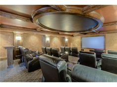 Amazing Home Theater Room! Click to see more pics of this dream home! 3716 W 140th Street Leawood, KS 66224