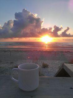 Beautiful sunrise at New Smyrna Beach, FL. I Love Coffee, Coffee Art, Coffee Time, Morning Coffee, Sunrise Photography, Coffee Photography, Sunrise Coffee, New Smyrna Beach, Morning Sunrise