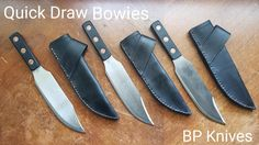 BILL PAGE QUICK DRAW BOWIES Throwing Knives, Quick Draw, Kitchen Knives, Bowie, Knife Throwing