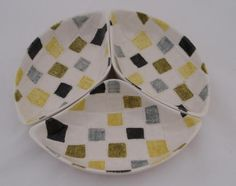 RARE AND UNUSUAL Midwinter Pottery Mosaic titbit dishes x 3 JESSIE TAIT   eBay