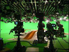 ZDF-Nachrichtenstudios N1 und N2 auf dem Mainzer Lerchenberg