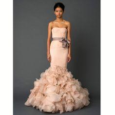 Pink Vera Wang wedding dress -- so me, so not my darling daughter :-)