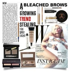 Have you tried bleaching your brows yet? It looks very youthful and unique. Remember there is always an option of tinting over the brow after bleach! Go on, give it a go :) @burnandp  by burnandpetersen  #polyvore #beauty #BobbiBrownCosmetics #LauraGeller #AnastasiaBeverlyHills #LauraMercier #NYX #Blinc #LashFood #EstéeLauder #SisleyParis #Cyrus #blonde #eyebrows #brows #browgame #onpoint #fleeked #bleach #instaglam