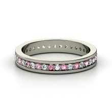 Popular pink tourmaline wedding band Google Search