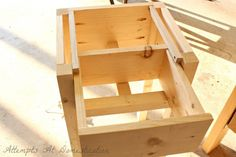 how to build a night stand with a drawer!!
