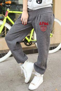 Fallwinter 2012 new install Korean 92 sport trousers casual pants Harun sanitary pants trousers loose trousers women new