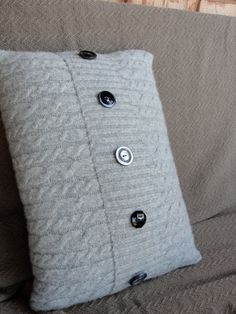 Upcycled Felted Wool Sweater Pillow