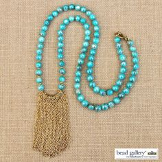 Make your own DIY Bohemia Necklace with Bead Gallery beads from @MichaelsStores #MadeWithMichaels