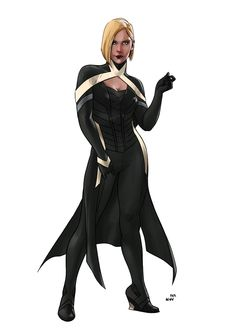X-Men Redesigned Emma Frost Marvel Dc, Marvel Comics, Captain Marvel, Superhero Characters, Fantasy Characters, Female Characters, Superhero Suits, Nate Grey, Super Hero Outfits