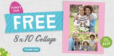 FREE 8×10 Collage Print ($4.49 Value!) + Free In-Store Pick Up @ Walgreens - Hot Deals For the hottest deals check us out at www.hotdeals.com or on FB! www.facebook.com/hotdealscom